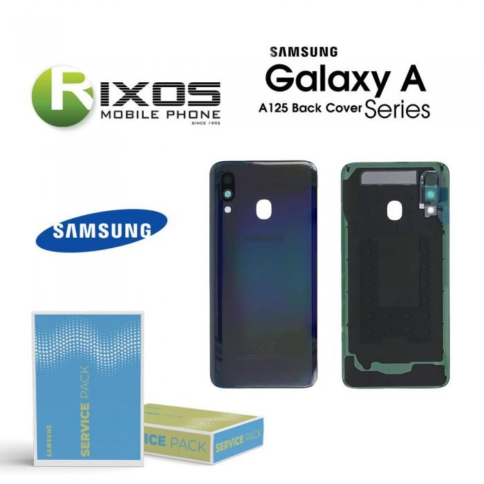 Samsung SM-A125F Galaxy A12 Battery Cover Black GH82-24487A