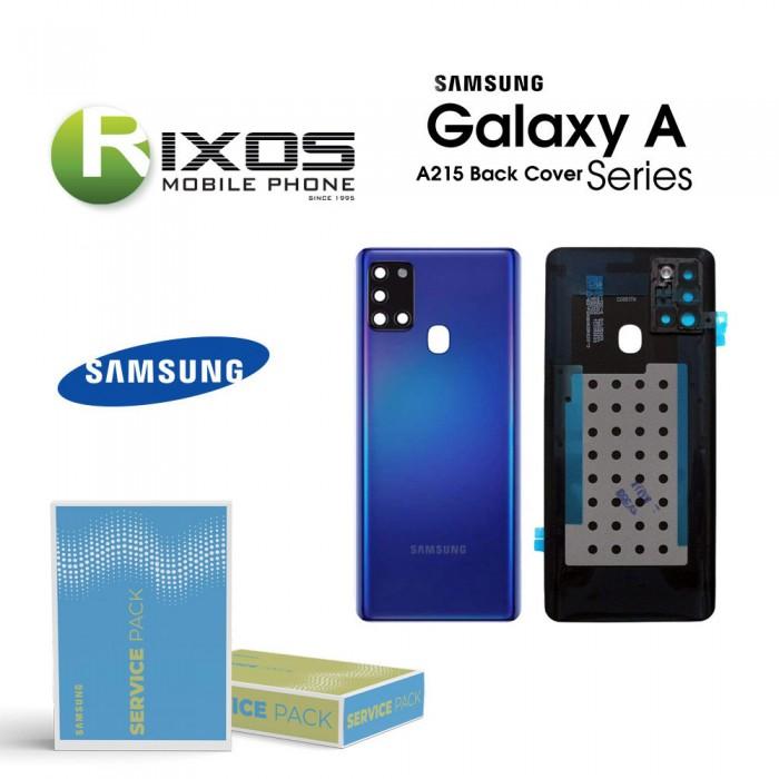 Samsung SM-A215F Galaxy A21 Battery Cover Blue GH82-22780C