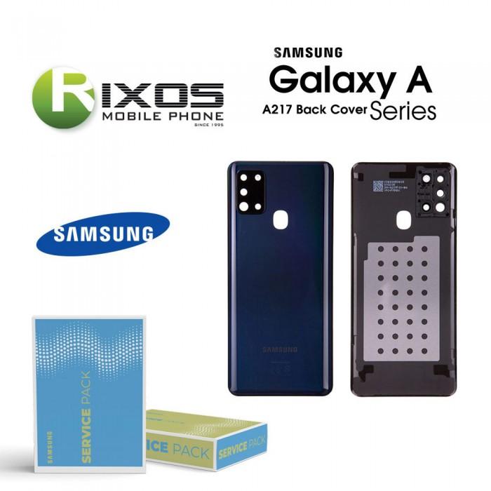 Samsung SM-A217F Galaxy A21s Battery Cover Black GH82-22780A