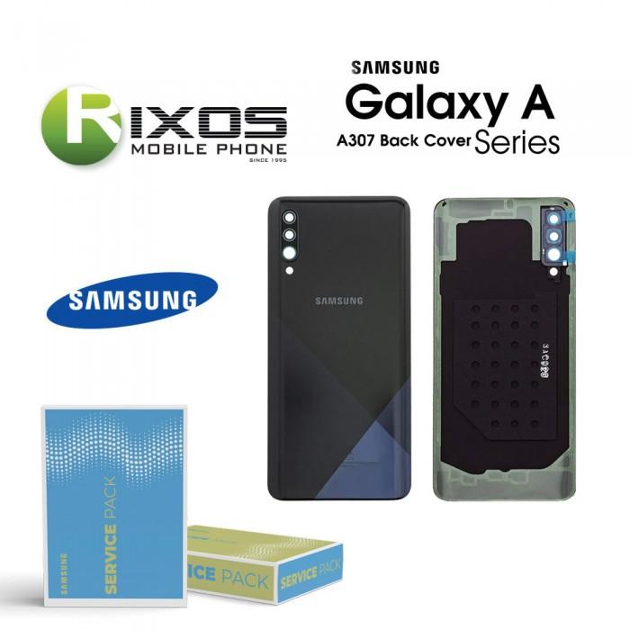 Samsung SM-A307F Galaxy A30s Battery Cover Prism Crush Black GH82-20805A