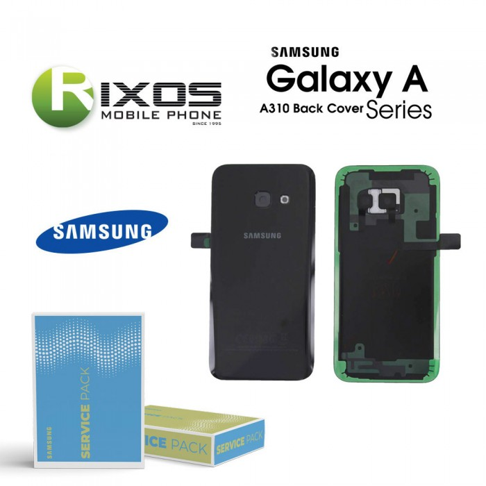 Samsung SM-A310F Galaxy A3 2016 Battery Cover Black GH82-11093B