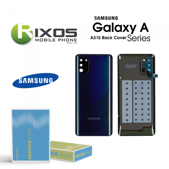 Samsung SM-A315F Galaxy A31 Battery Cover Prism Crush Black GH82-22338A