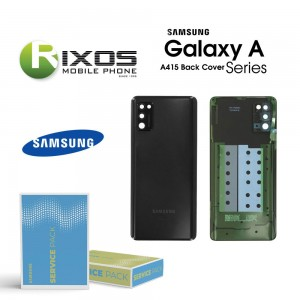 Samsung SM-A415F Galaxy A41 Battery Cover Black GH82-22585A