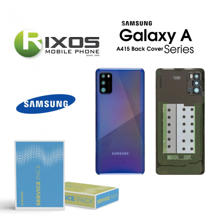 Samsung SM-A415F Galaxy A41 Battery Cover Prism Crush Blue GH82-22585D