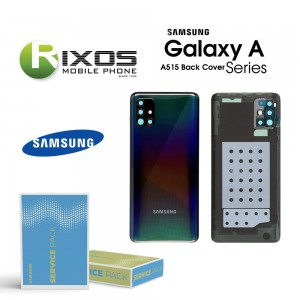 Samsung SM-A515F Galaxy A51 Battery Cover Prism Crush Black GH82-21653B