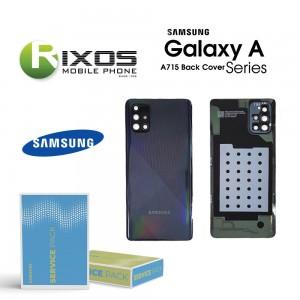 Samsung SM-A715F Galaxy A71 Battery Cover Prism Crush Black GH82-22112A