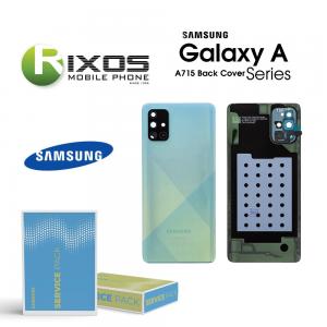 Samsung SM-A715F Galaxy A71 Battery Cover Prism Crush Blue GH82-22112C