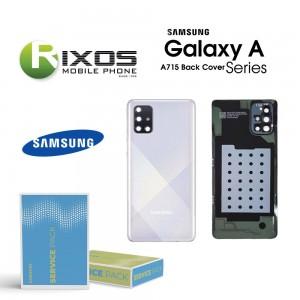 Samsung SM-A715F Galaxy A71 Battery Cover Prism Crush Silver GH82-22112B