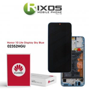 Huawei Honor 10 Lite (HRY-LX1) Display module front cover + LCD + digitizer + battery sky blue 02352HGU