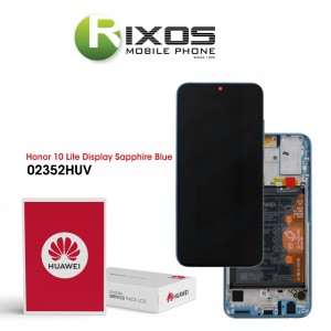 Huawei Honor 10 Lite (HRY-LX1) Display module front cover + LCD + digitizer + battery sapphire blue 02352HUV