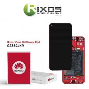 Huawei Honor View 20 (PCT-L29B) Display module front cover + LCD + digitizer + battery phantom red 02352JKR