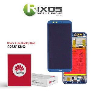 Huawei Honor 9 Lite (LLD-L31) Display module front cover + LCD + digitizer + battery blue 02351SNQ