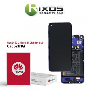 Huawei Honor 20 (YAL-AL00 YAL-L21) Nova 5T (YAL-L61) Display module front cover + LCD + digitizer + battery sapphire blue 02352TNQ