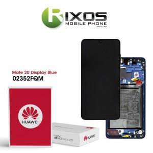Huawei Mate 20 (HMA-L09, HMA-L29) Display module front cover + LCD + digitizer + battery midnight blue 02352FQM