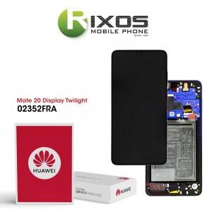 Huawei Mate 20 (HMA-L09, HMA-L29) Display module front cover + LCD + digitizer + battery twilight 02352FRA
