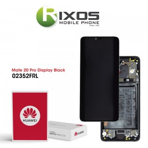 Huawei Mate 20 Pro (LYA-L09, LYA-L29, LYA-L0C) Display module front cover + LCD + digitizer + battery black 02352FRL OR 02352GUH
