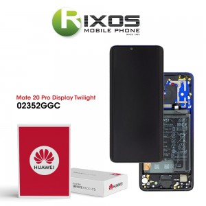 Huawei Mate 20 Pro (LYA-L09, LYA-L29, LYA-L0C) Display module front cover + LCD + digitizer + battery twilight 02352GGC