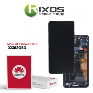 Huawei Mate 20 X (EVR-L29) Display module front cover + LCD + digitizer + battery midnight blue 02352GBD