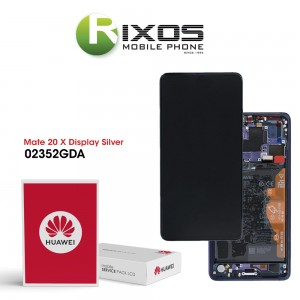 Huawei Mate 20 X (EVR-L29) Display module front cover + LCD + digitizer + battery phantom silver 02352GDA