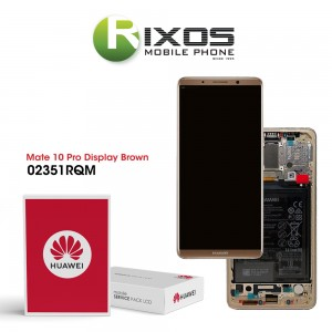 Huawei Mate 10 Pro (BLA-L09, BLA-L29) Display module front cover + LCD + digitizer + battery mocha brown 02351RQM
