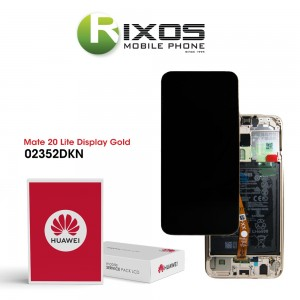 Huawei Mate 20 Lite (SNE-LX1 SNE-L21) Display module front cover + LCD + digitizer + battery platinum gold 02352DKN