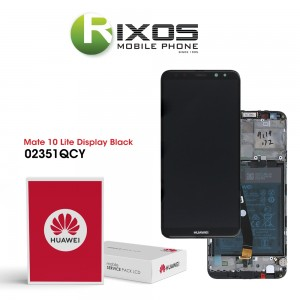 Huawei Mate 10 Lite (RNE-L01, RNE-L21) Display module front cover + LCD + digitizer + battery black 02351QCY