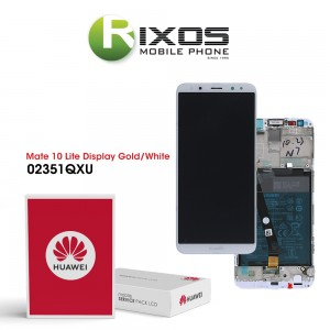 Huawei Mate 10 Lite (RNE-L01, RNE-L21) Display module front cover + LCD + digitizer + battery gold 02351QXU