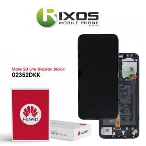 Huawei Mate 20 Lite (SNE-LX1 SNE-L21) Display module front cover + LCD + digitizer + battery black 02352DKK
