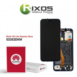 Huawei Mate 20 Lite (SNE-LX1 SNE-L21) Display module front cover + LCD + digitizer + battery sapphire blue 02352DKM