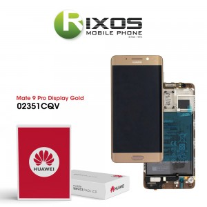 Huawei Mate 9 Pro Display module front cover + LCD + digitizer + battery gold 02351CQV