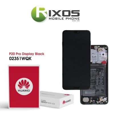 Huawei P20 Pro (CLT-L09, CLT-L29) Display module front cover + LCD + digitizer + battery black 02351WQK