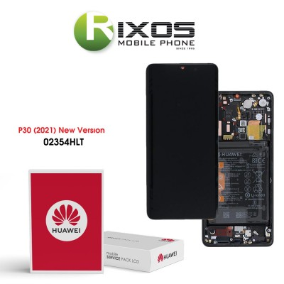 Huawei P30 (New Version 2021) Display module front cover + LCD + digitizer + battery black 02354HLT