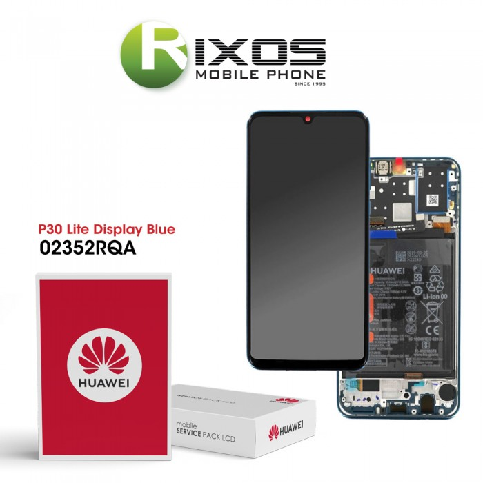 Huawei P30 Lite (MAR-L21) (Marie-L21A) (MAR-LX1B) Display module front cover + LCD + digitizer + battery breathing crystal  02352VBG