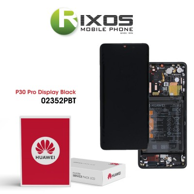 Huawei P30 Pro (VOG-L09 VOG-L29) Display module front cover + LCD + digitizer + battery black 02352PBT