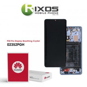 Huawei P30 Pro (VOG-L09 VOG-L29) Display module front cover + LCD + digitizer + battery breathing crystal 02352PGH