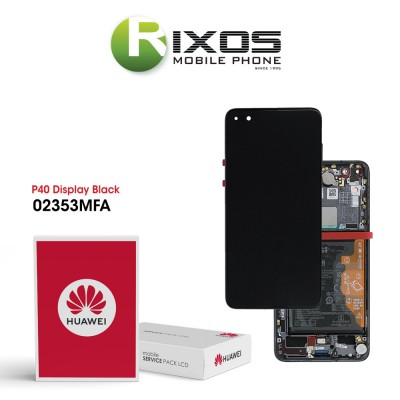 Huawei P40 (ANA-NX9 ANA-LX4) Display module front cover + LCD + digitizer + battery black 02353MFA