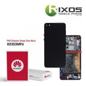 Huawei P40 (ANA-NX9 ANA-LX4) Display module front cover + LCD + digitizer + battery deep sea blue 02353MFU