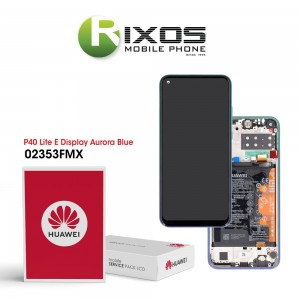 Huawei P40 Lite E (ART-L28 ART-L29) Display module front cover + LCD + digitizer + battery aurora blue 02353FMX
