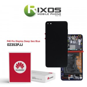 Huawei P40 Pro (ELS-NX9 ELS-N09) Display module front cover + LCD + digitizer + battery deep sea blue 02353PJJ