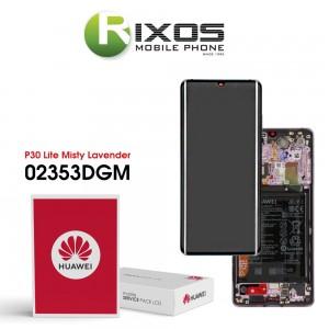 Huawei P30 Pro (VOG-L09 VOG-L29) Display module front cover + LCD + digitizer + battery mystic lavender 02353DGM