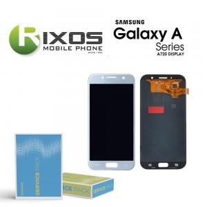 Samsung Galaxy A7 2017 (SM-A720F) Display module LCD + Digitizer blue GH97-19723C