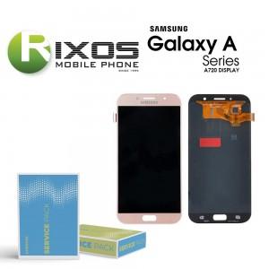 Samsung Galaxy A7 2017 (SM-A720F) Display module LCD + Digitizer gold GH97-19723D