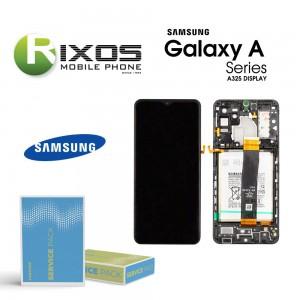 Samsung Galaxy A32 5G (SM-A325 2021) Lcd Display unit complete black + Btry GH82-25611A OR GH82-25612A