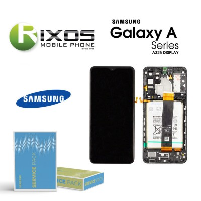 Samsung Galaxy A32 5G (SM-A325 2021) Lcd Display unit complete black + Btry GH82-25611A OR GH82-25612A