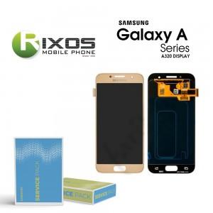 Samsung Galaxy A3 2017 (SM-A320F) Display module LCD + Digitizer gold GH97-19732B