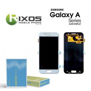 Samsung Galaxy A3 2017 (SM-A320F) Display module LCD + Digitizer blue GH97-19732C