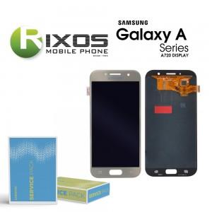 Samsung Galaxy A7 2017 (SM-A720F) Display module LCD + Digitizer gold GH97-19723B