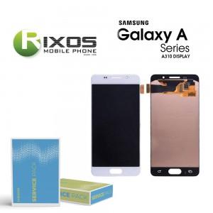 Samsung Galaxy A3 2016 (SM-A310F) Display module LCD + Digitizer white GH97-18249A