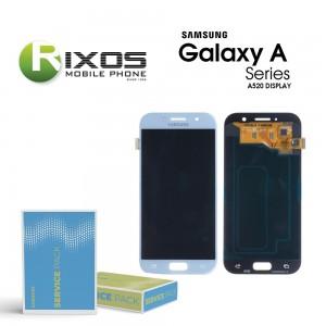 Samsung Galaxy A5 2017 (SM-A520F) Display module LCD + Digitizer blue GH97-19733C