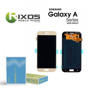 Samsung Galaxy A5 2017 (SM-A520F) Display module LCD + Digitizer gold GH97-19733B